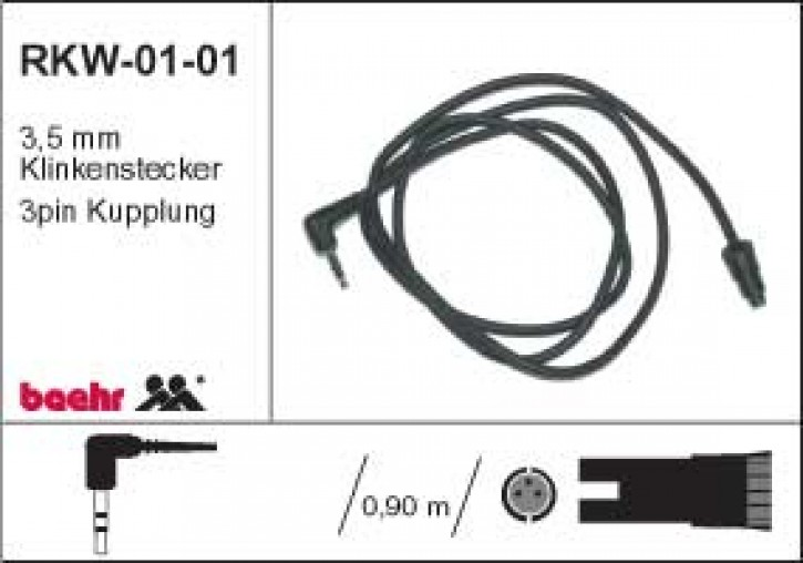 KT-RKW-0101 Radiokabel Walkmann, 3,5 mm Klinkenstecker