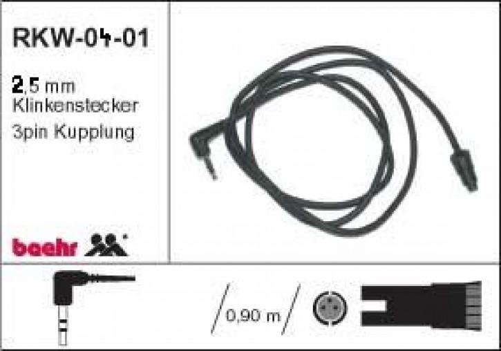 KT-RKW-0401 Radiokabel Walkmann / MP3 Player mit Winkelstecker