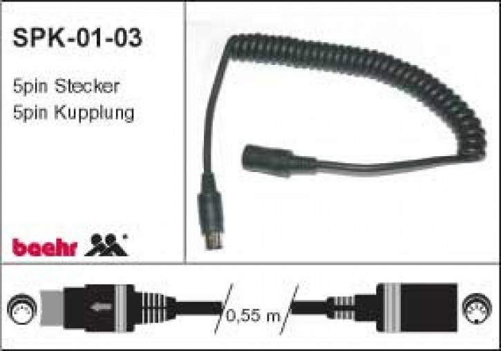 KT-SPK-01-03 Spiralkabel für Helmanschluss