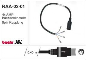 KT-RAA-0201 Radio-Anschlussadapter für BMW R1150/1200RT-Radio