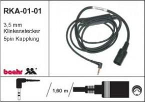 KT-RKA-01-01 Radiokabel für Alleinfahrt Direktanschluss Helm